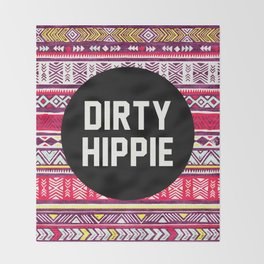 Dirty Hippie Throw Blanket