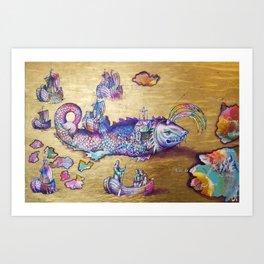 "The feast of St. Brendan""  Art Print"