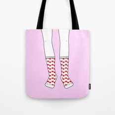 Sweetheart Socks Tote Bag