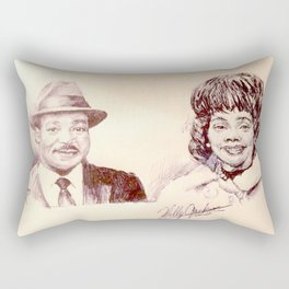 Martin Luther King & Coretta Scott King Rectangular Pillow