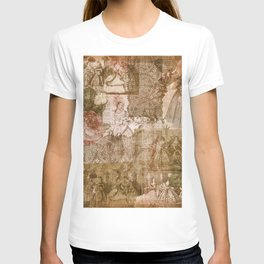 Vintage & Shabby Chic - Victorian ladies pattern T-shirt