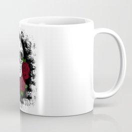 Skull and Rose Coffee Mug