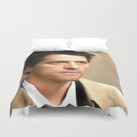 castiel Duvet Covers featuring Castiel by MishaHead