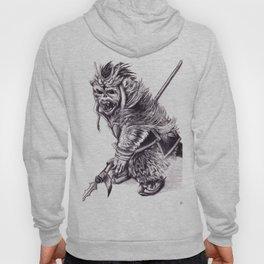 Ancient Warrior Monkey, pencil portrait Hoody