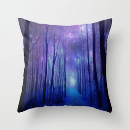 Fantasy Path Purple Blue Throw Pillow