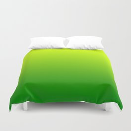 Bright Chartreuse Green Ombre Duvet Cover