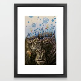 Silverback Synapse Framed Art Print