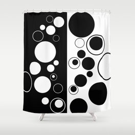 Reflections - Black and white geometric artwork Shower Curtain