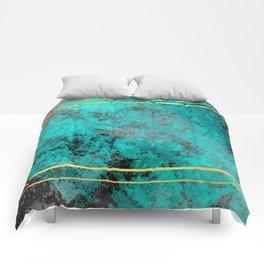 Textured Turquoise Diamonds Comforters