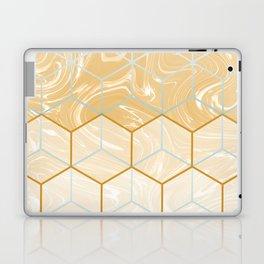 Geometric Effect Caramel Marble Design Laptop & iPad Skin