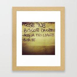 lista_della_spesa Framed Art Print