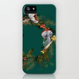 Mushroom Forest Wreath iPhone Case