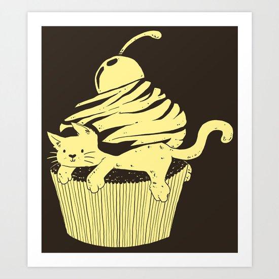 CupCat or CuteCake? Art Print
