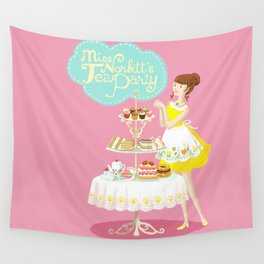 Miss Norbitt's Tea Party Wall Tapestry