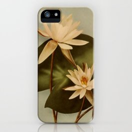 Vintage Water Lily iPhone Case
