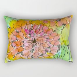 The Changing Colors of Succulents - 3 Rectangular Pillow