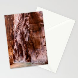 Hike in The Narrows Zion National Park Utah Stationery Cards