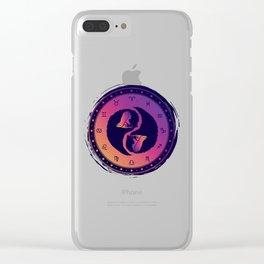 Virgo Yin Yang Sixth Zodiac Sign Clear iPhone Case