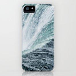 Landscape Photography | Niagara Falls | Waterfall | Aqua | Mist | Fog | Blue | Marine iPhone Case