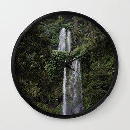 Lombok Waterfall Wall Clock