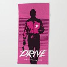 Drive art movie inspired Beach Towel