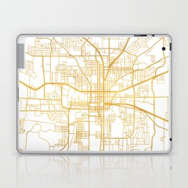 TALLAHASSEE FLORIDA CITY STREET MAP ART Laptop & iPad Skin