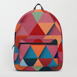 Colorfull abstract darker triangle pattern Backpack