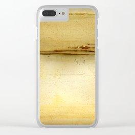 Distressed Paper Art Ten Clear iPhone Case