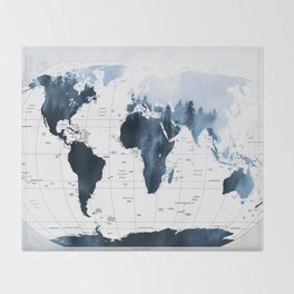 ALLOVER THE WORLD-Woods fog map Throw Blanket