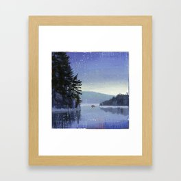 rocky cliff Framed Art Print