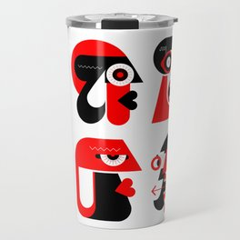 People Avatars Travel Mug