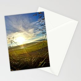 Icelandic Sunset from the Grass Roof of a Turf Farmhouse (1) Stationery Cards