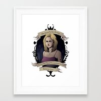 buffy Framed Art Prints featuring Buffy - Buffy the Vampire Slayer by muin+staers
