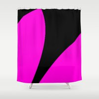 contemporary Shower Curtains featuring Contemporary by lillianhibiscus