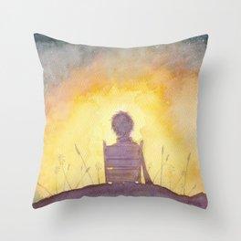 47 Sunsets Throw Pillow