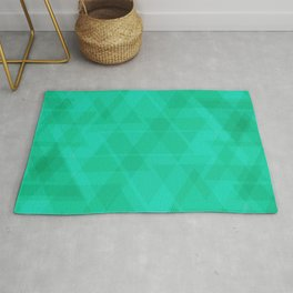 Bright marine triangles in intersection and overlay. Rug