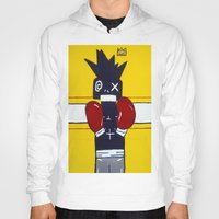 basquiat Hoodies featuring Boxer Basquiat by TheArtGoon