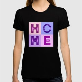 Love Hearts Home Type Pinks Purples T-shirt