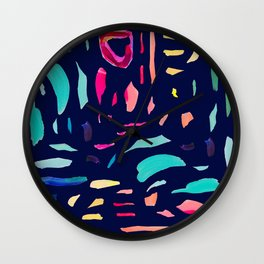 Brush Gems 2 - A deconstructed painting Wall Clock