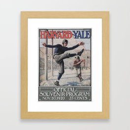 Harvard Yale Game 1920 Framed Art Print