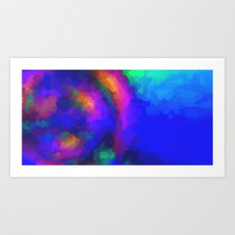 abstract color cobinations in watercolor 2 Art Print