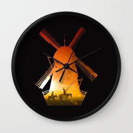 Fighting Giants (dark version) Wall Clock