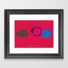 Before rainstorm Framed Art Print