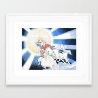 apollo Framed Art Prints featuring apollo by Miz2017