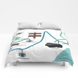 Rattlesnake Ledge Trail Map Comforters