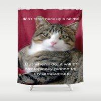 meme Shower Curtains featuring TJ Meme by Frankie Cat