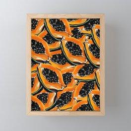 Papaya days Framed Mini Art Print
