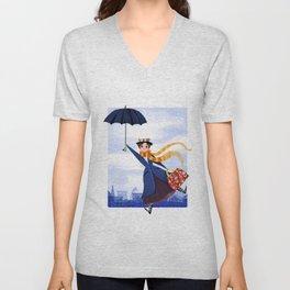 Mary Poppins Unisex V-Neck