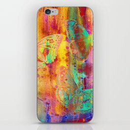 Colorful Butterfles Q iPhone Skin