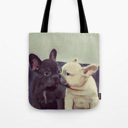 Frenchie kiss Tote Bag